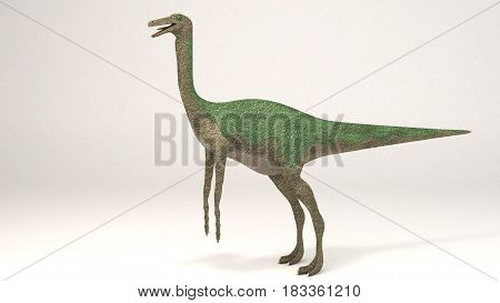 3D Computer rendering illustration of Gallimimus green