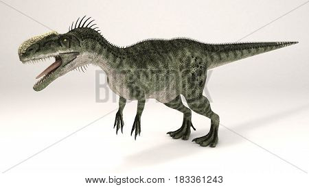 3D Computer rendering illustration of Monolophosaurus dinosaur