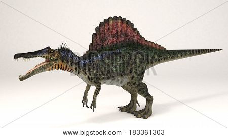 3D Computer rendering illustration of Spinosaurus dinosaur