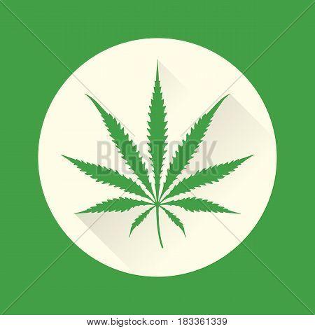 Vector Color Cannabis Marijuana Illustration .