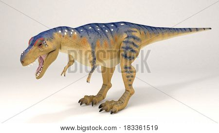 3D Computer rendering illustration of Tyrannosaurus dinosaur