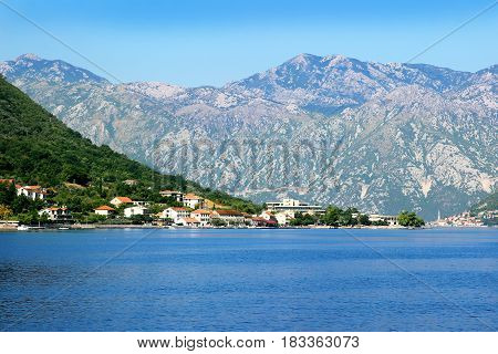Perast, Montenegro. Bay of Kotor. Beautiful nature in Montenegro