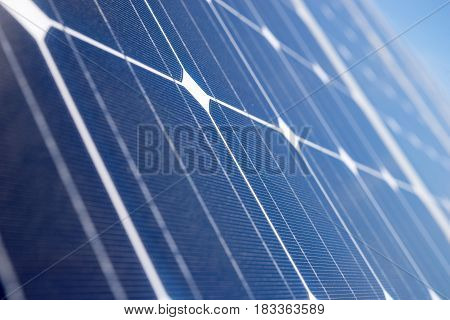 Closeup of solar panel, Solar photovoltaic panel