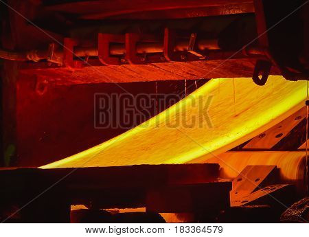 Hot-rolled steel process in steel plant industry