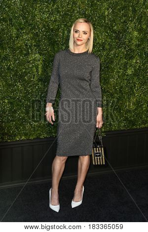 NEW YORK-APR 24: Actress Christina Ricci attends the 12th Annual Tribeca Film Festival Artists Dinner hosted by Chanel at Balthazar Restaurant on April 24, 2017 in New York City.