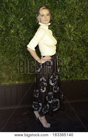 NEW YORK-APR 24: Alice Eve attends the 12th Annual Tribeca Film Festival Artists Dinner hosted by Chanel at Balthazar Restaurant on April 24, 2017 in New York City.