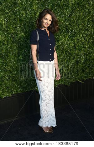 NEW YORK-APR 24: Katie Holmes attends the 12th Annual Tribeca Film Festival Artists Dinner hosted by Chanel at Balthazar Restaurant on April 24, 2017 in New York City.