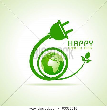 Happy Earth Day greeting stock vector illustration