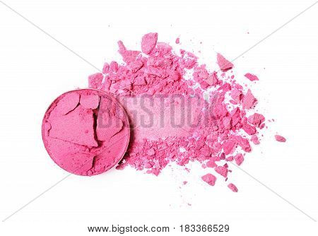 Smear Of Crushed Pink Eyeshadow As Sample Of Cosmetic Product