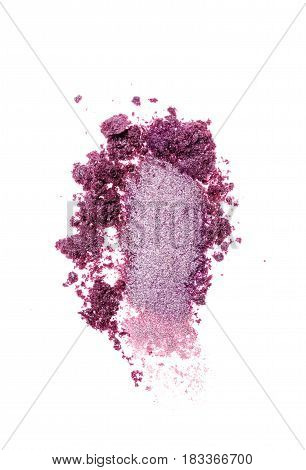 Smear Of Crushed Violet Eyeshadow As Sample Of Cosmetic Product
