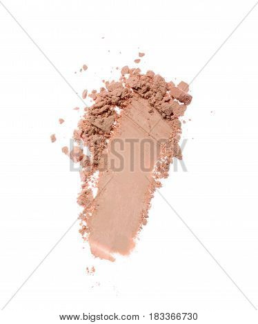 Smear Of Crushed Beige Eyeshadow As Sample Of Cosmetic Product