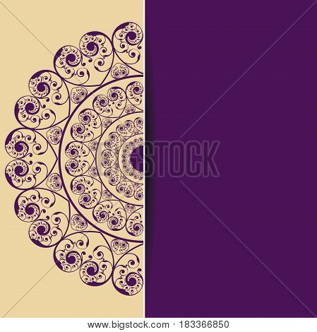 New Wedding Card design stock vector illustration