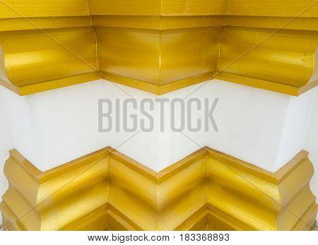 pattern of buddhist architecture base, golden architecture base