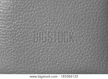 Closed up Silver Gray Colored Genuine Leather, for Background, Pattern