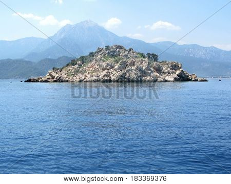 view of island in the mediteranean sea