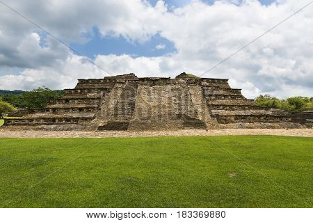 Detail of a pyramid at the El Tajin archeological site in the State of Veracruz Mexico