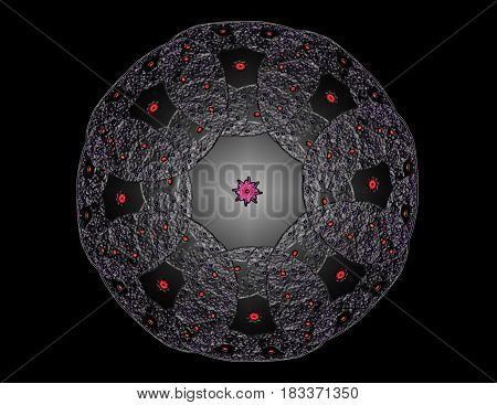 Lacy colorful clockwork pattern. Digital fractal art design. Abstract design of sacred symbols signs geometry. Designs of astrology alchemy magic. Geometric Spiral. Abstract Colorful Fractal Texture.