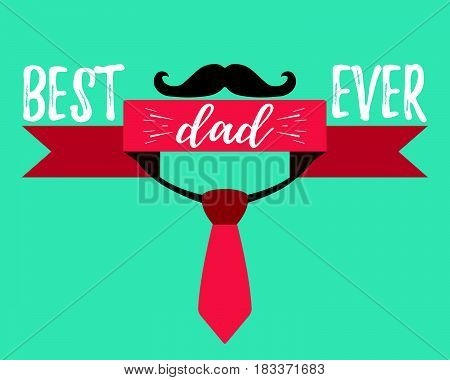 Happy Father's Day Banner And Giftcard. Vector Illustration.