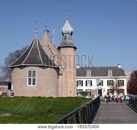 Coevorden,April-09-2017. Castle Coevorden from 1100 in the fortified Coevorden. The Netherlands
