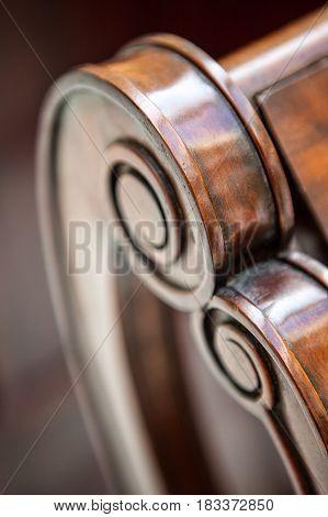 Hand-made Wooden Armchair Detail