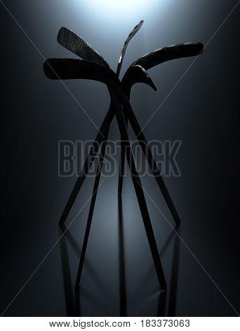 Ice Hockey Stick Array
