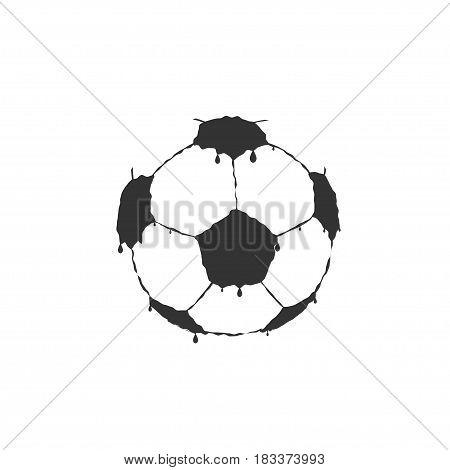 Grange Football Soccer ball with black paint splashes