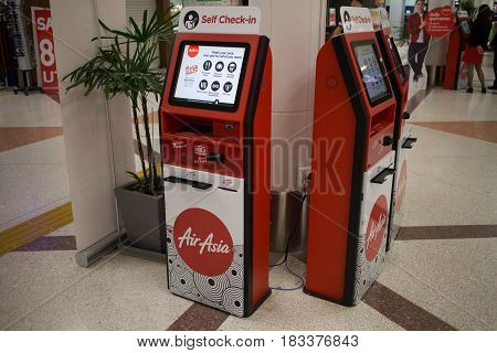 Airasia Self  Check In Inside Chiang Mai International Airport