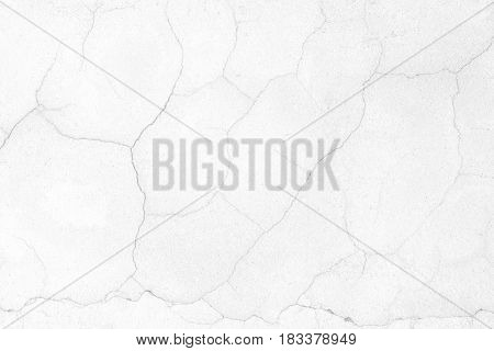 White Crack Concrete Wall Background. Suitable for Presentation and Web Templates with Space for Text.