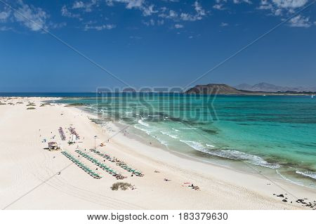 Corralejo Beach In Fuerteventura, Spain