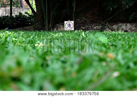 Keep Off the Grass Sign. (Selective Focus)
