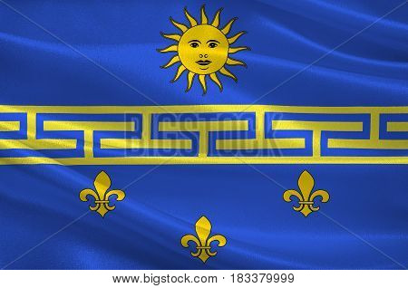 Flag of Nogent-sur-Seine is a commune in the Aube department in north-central France. 3d illustration