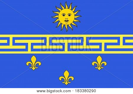 Flag of Nogent-sur-Seine is a commune in the Aube department in north-central France. Vector illustration