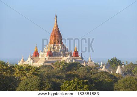 Ananda Temple Pagoda (Paya) in Bagan, Myanmar (Burma)