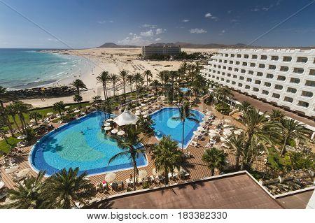 Hotel Riu Palace Tres Islas In Fuerteventure, Spain, Editorial