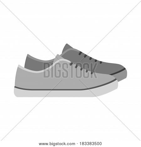 Sneakers, loafers shoes isolated on white background. footwear for sport and casual look vector illustration.