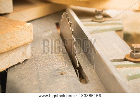 Photo of a saw close-up for sawing wood