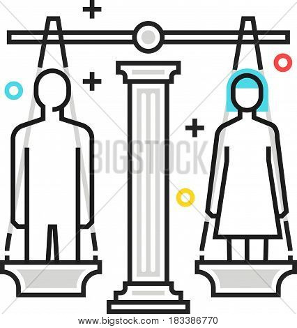 Color Box Icon, Divorce Illustration, Icon