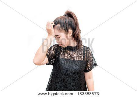 Asia Woman Having Headche