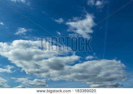 The Vast Dark Blue Sky And Clouds Sky