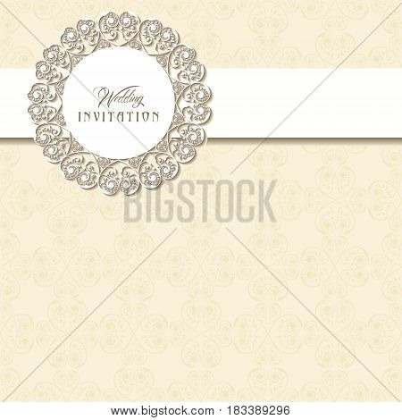 Wedding Invitation Card design stock vector illustration