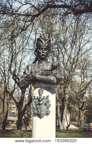 The monument to the great Cossack Hetman in the Park