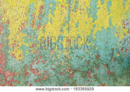 chipped paint on iron surface, texture background