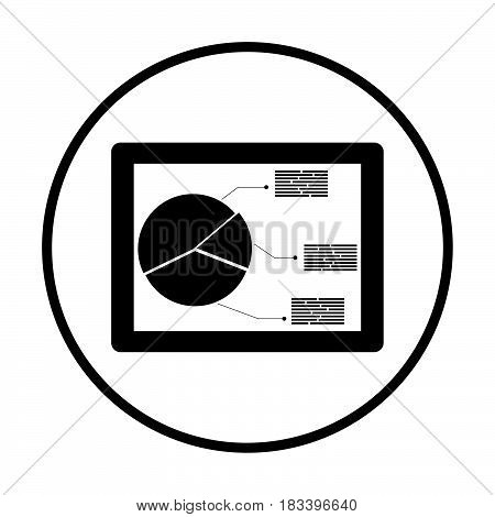 Tablet With Analytics Diagram Icon