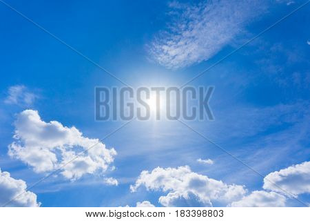 White Cloudy. Blue Sky. Sunny Day. Cloud Formations in the Morning