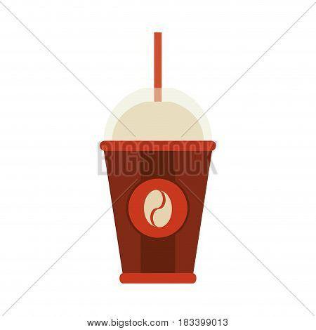 disposable cup coffee related icon image vector illustration design