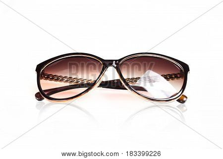 Female sunglasses on white background isolate in