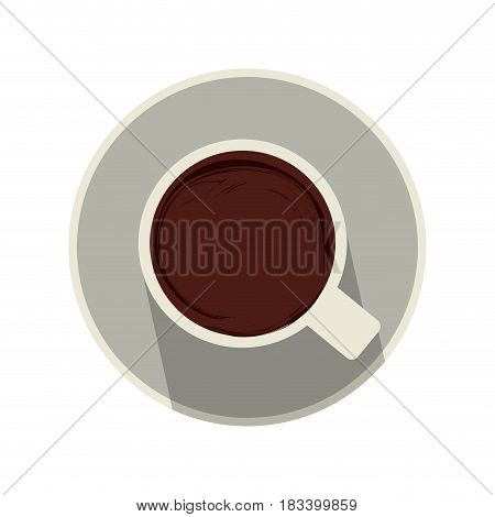 mug topview coffee related icon image vector illustration design