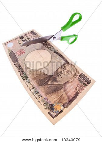 Japanese yen bank notes