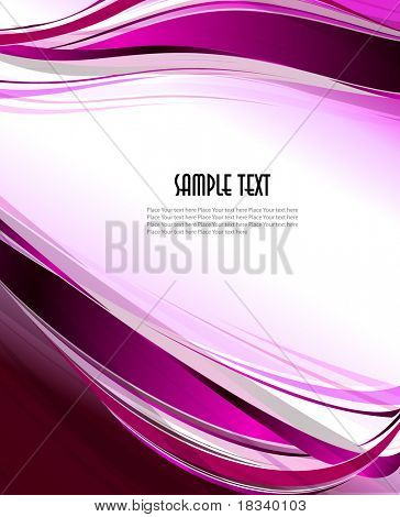 Colorfull abstract wavy vector design