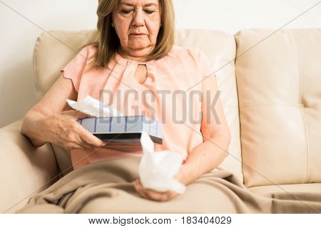 Elderly Woman With Depression